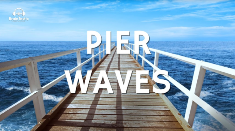 Relaxing Sound of Ocean Waves at the Pier - 1 hour - Ocean Sounds for Study, Focus & Productivity