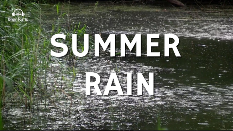 Relaxing Sound of Summer Rainstorm - 1 hour - Rain Sounds for Study, Focus & Relaxation